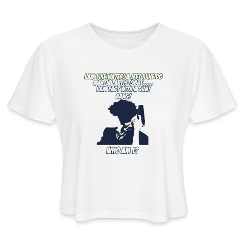 AnimeBusters Guess Who Series- Spike - CowboyBebop - Women's Cropped T-Shirt