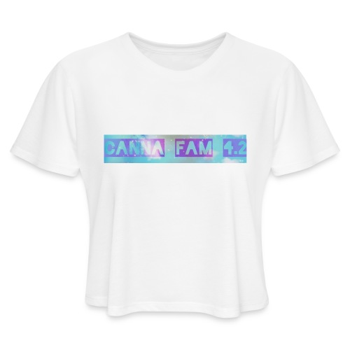 Canna fams #3 design - Women's Cropped T-Shirt