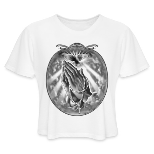 Praying Hands by RollinLow - Women's Cropped T-Shirt