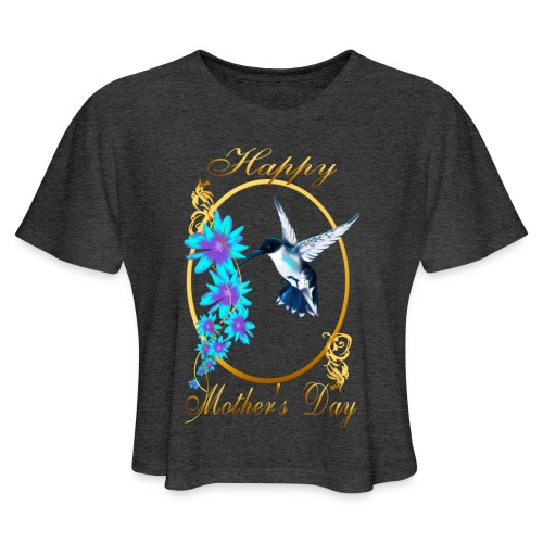 Mother's Day with humming birds - Women's Cropped T-Shirt