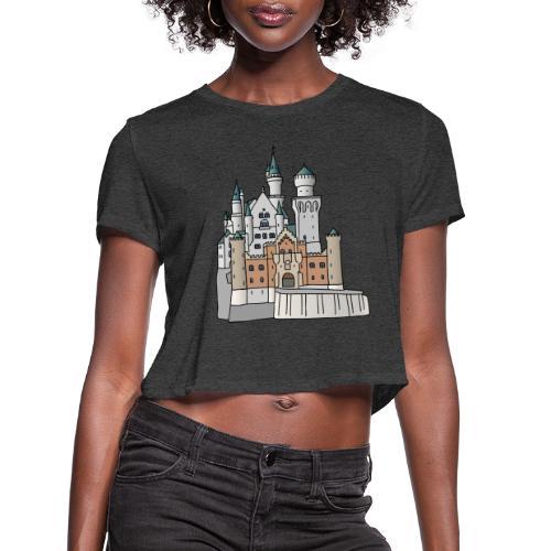 Neuschwanstein Castle, Bavaria - Women's Cropped T-Shirt