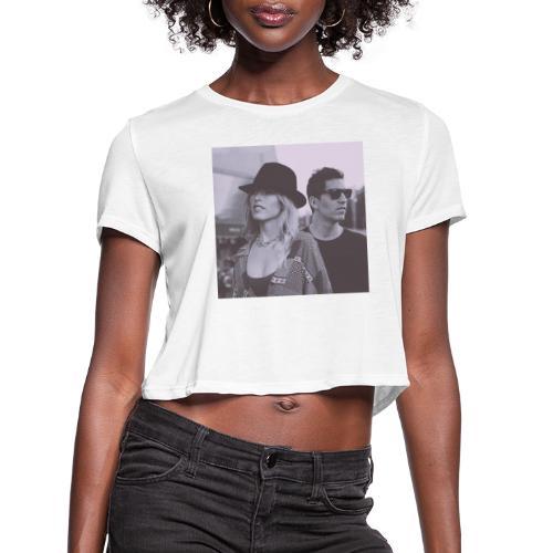 Lydia&Sebastien Traveling Shoes art cover - Women's Cropped T-Shirt