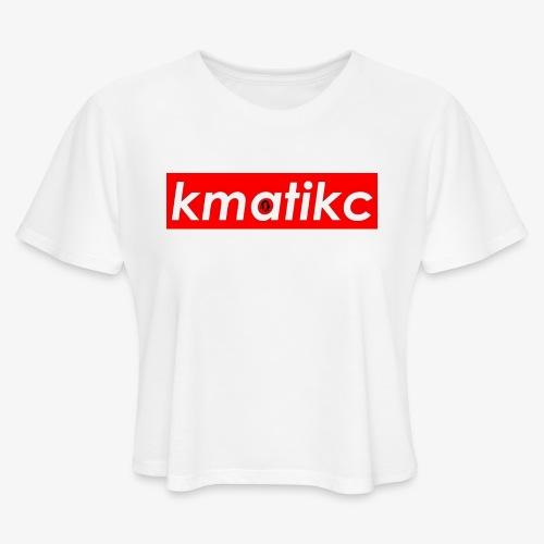 KMATiKC Box Logo - Women's Cropped T-Shirt