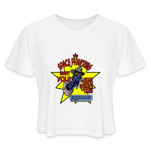 Space Phantom - Women's Cropped T-Shirt