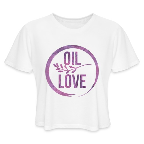 Oil Love Purple - Women's Cropped T-Shirt