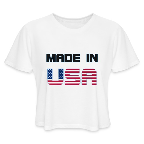 Made in USA - Women's Cropped T-Shirt