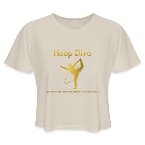 Hoop Diva 2 - Women's Cropped T-Shirt