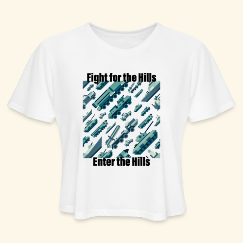 Fight or Enter - Women's Cropped T-Shirt