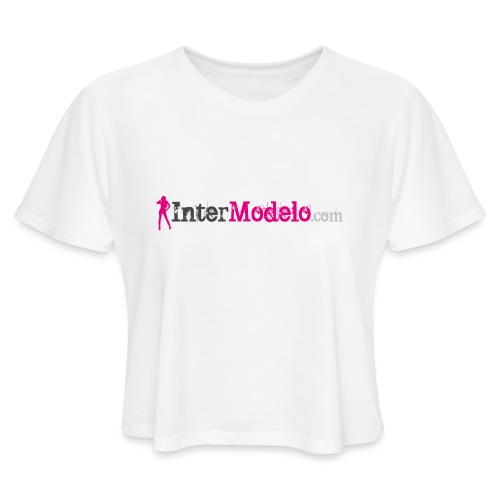 Intermodelo Color Logo - Women's Cropped T-Shirt