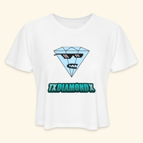 Txdiamondx Diamond Guy Logo - Women's Cropped T-Shirt