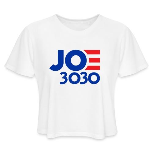 Joe 3030 - Joe Biden Future Presidential Campaign - Women's Cropped T-Shirt