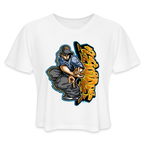 Cholo Hands by RollinLow - Women's Cropped T-Shirt