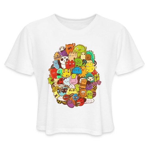 Doodle for a poodle - Women's Cropped T-Shirt