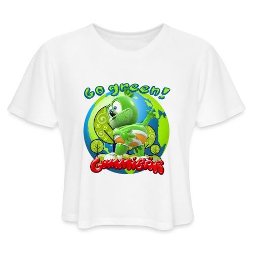 Gummibär Go Green Earth Day Earth - Women's Cropped T-Shirt