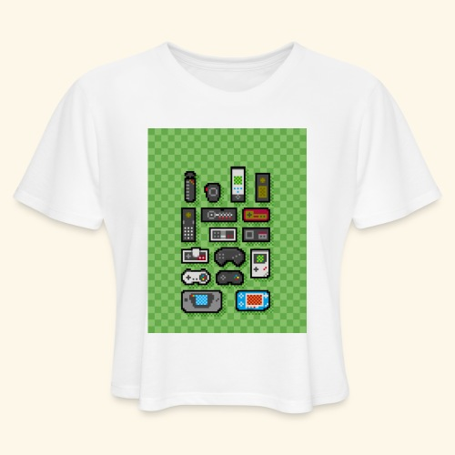 controller handy - Women's Cropped T-Shirt