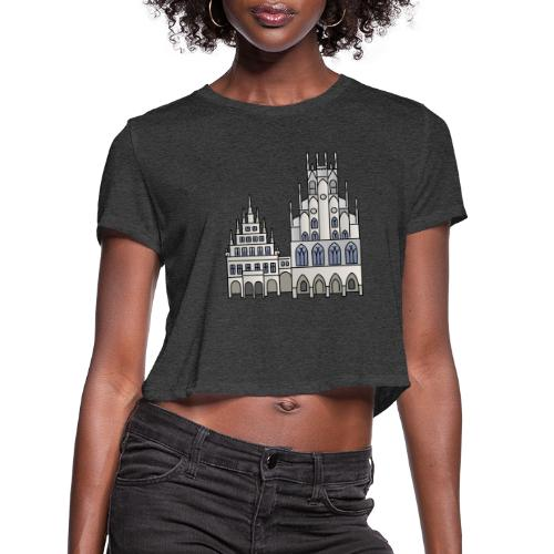 Town Hall Münster, Cityhall, Mayor - Women's Cropped T-Shirt