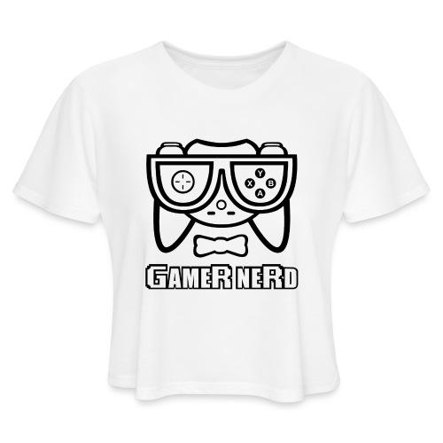 Nerds - Gamer Nerd - Women's Cropped T-Shirt
