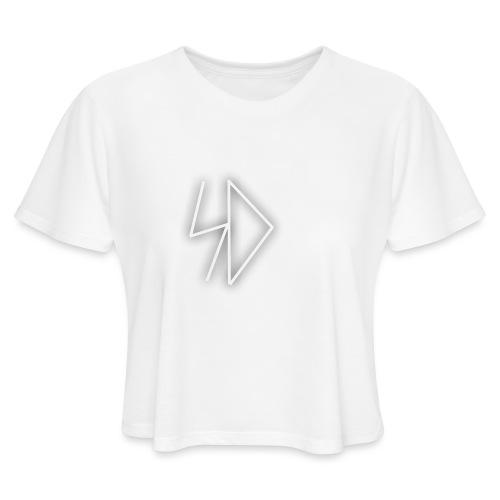 Sid logo white - Women's Cropped T-Shirt