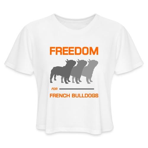 French Bulldogs - Women's Cropped T-Shirt