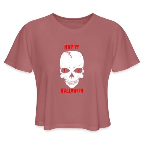 Halloween Skull - Women's Cropped T-Shirt