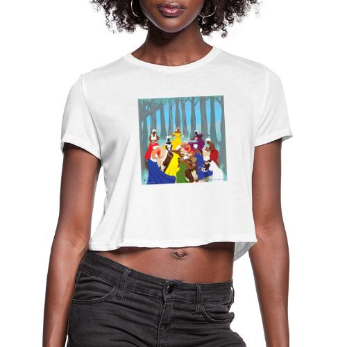 Etheric Touch Healing Ceremony Day time - Women's Cropped T-Shirt