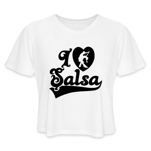 I Love Salsa Dancing T-Shirt Design - Women's Cropped T-Shirt