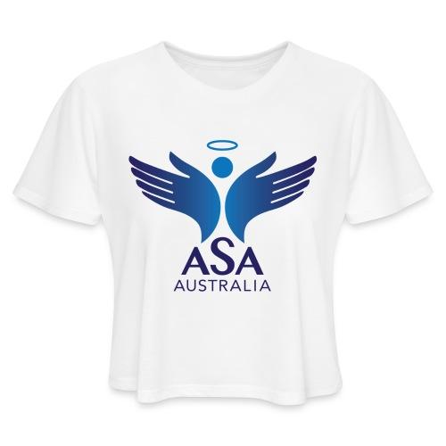 3459 Angelman Logo AUSTRALIA FA CMYK - Women's Cropped T-Shirt