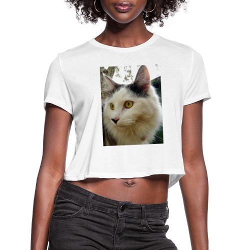 Cute cat - Women's Cropped T-Shirt
