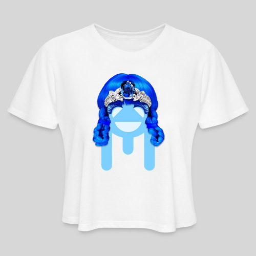 ALIENS WITH WIGS - #TeamMu - Women's Cropped T-Shirt