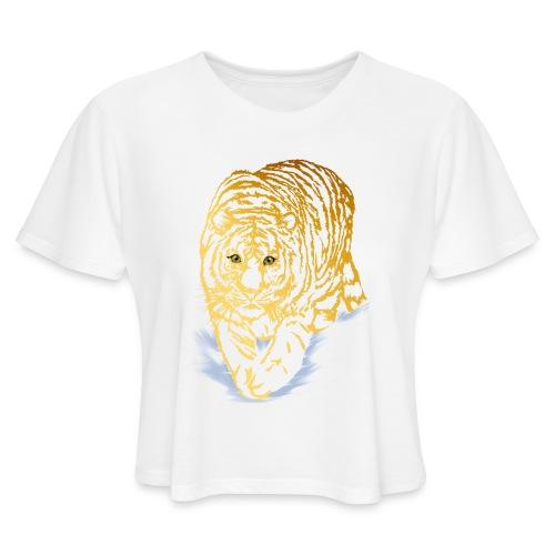 Golden Snow Tiger - Women's Cropped T-Shirt