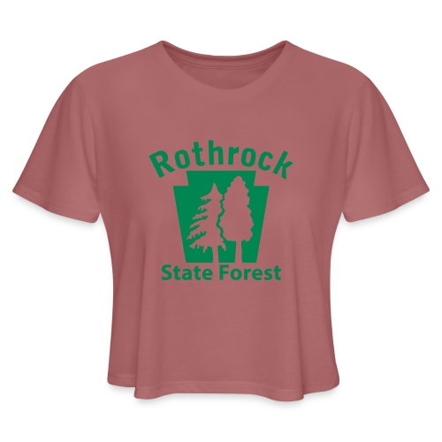 Rothrock State Forest Keystone (w/trees) - Women's Cropped T-Shirt