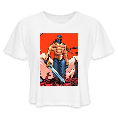 P4TD png - Women's Cropped T-Shirt