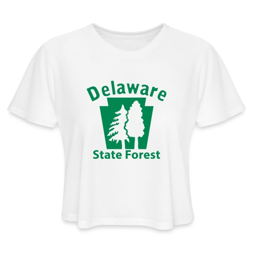 Delaware State Forest Keystone (w/trees) - Women's Cropped T-Shirt