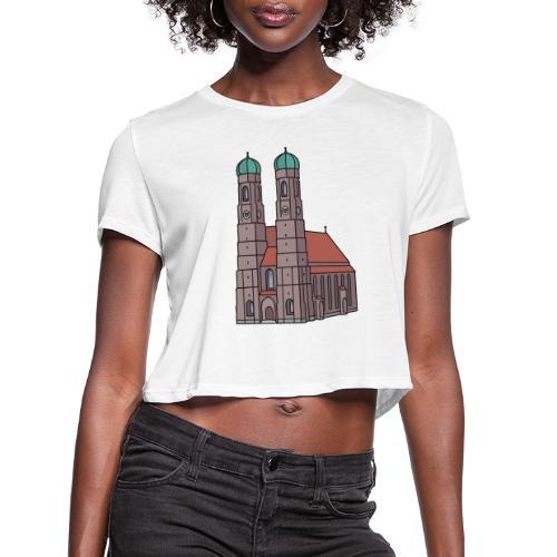 Munich Frauenkirche - Women's Cropped T-Shirt