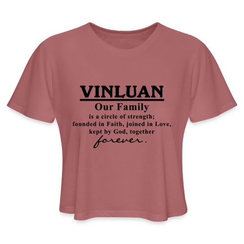 Vinluan Family 01 - Women's Cropped T-Shirt
