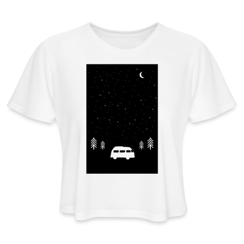 Van Life Through The Night // Augmented Reality AR - Women's Cropped T-Shirt