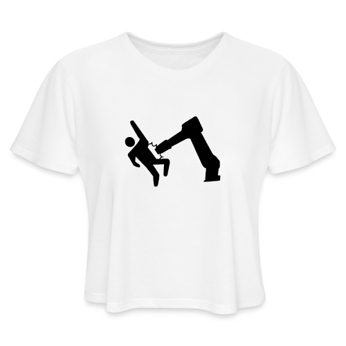 Robot Wins! - Women's Cropped T-Shirt