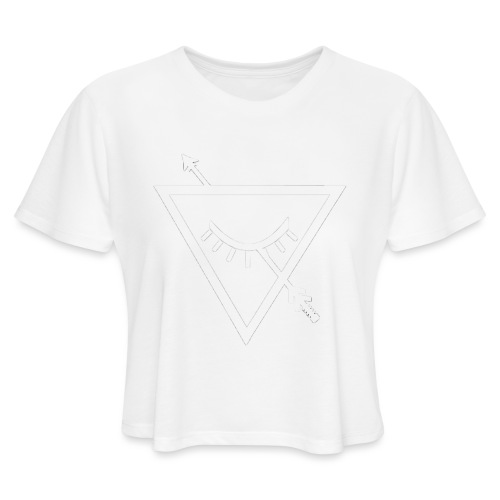 Urban Roots Symbol White - Women's Cropped T-Shirt