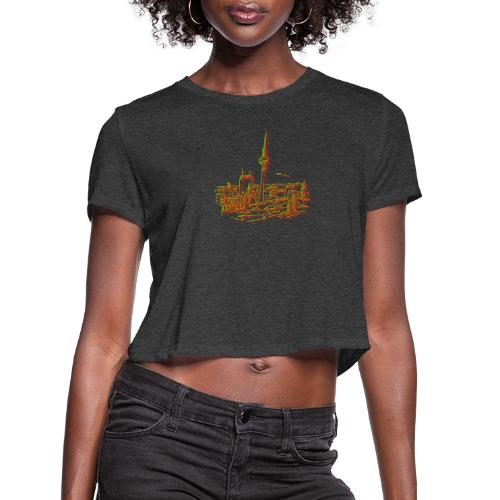 Panorama of Berlin - Women's Cropped T-Shirt