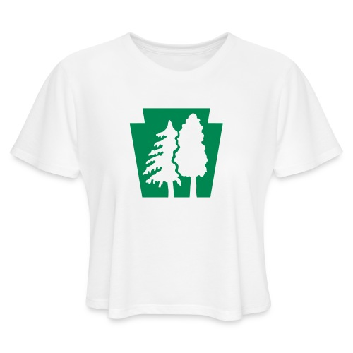 PA Keystone w/trees - Women's Cropped T-Shirt