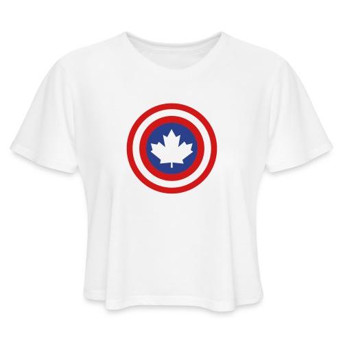 Captain Canada Shield 2 Colour - Women's Cropped T-Shirt