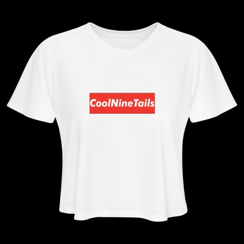 CoolNineTails supreme logo - Women's Cropped T-Shirt