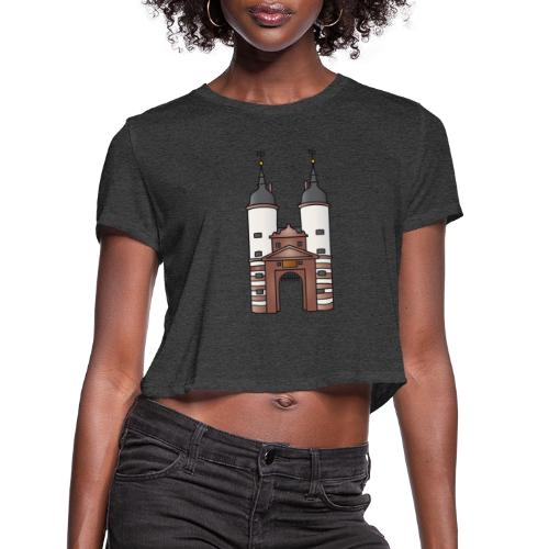 Bridge gate Heidelberg, FRG - Women's Cropped T-Shirt