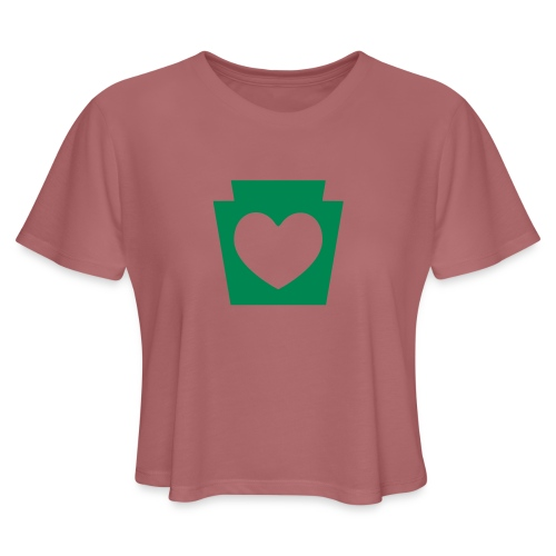 Love/Heart PA Keystone - Women's Cropped T-Shirt
