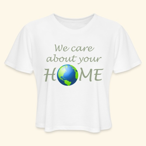 Happy Earth day - Women's Cropped T-Shirt