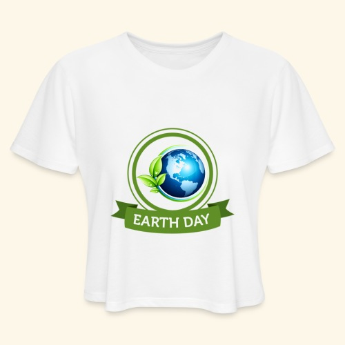 Happy Earth day - 3 - Women's Cropped T-Shirt