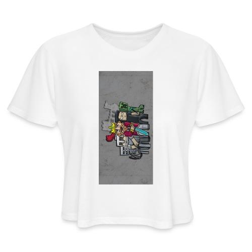 sparkleziphone5 - Women's Cropped T-Shirt