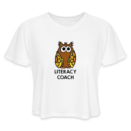 literacy coach png - Women's Cropped T-Shirt