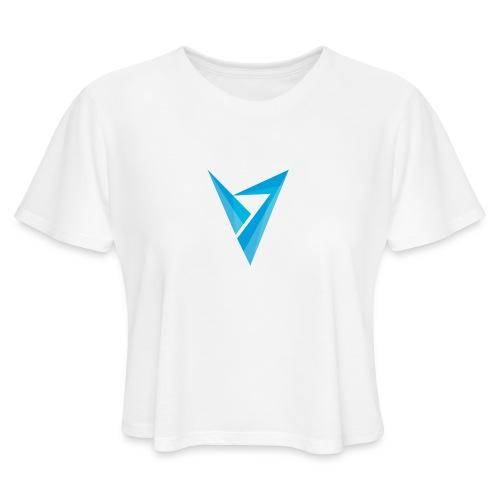 v logo - Women's Cropped T-Shirt
