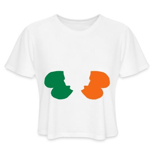 irish_skull_shamrock - Women's Cropped T-Shirt